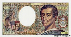 200 Francs MONTESQUIEU alphabet 101 FRANCE  1992 F.70bis NEUF
