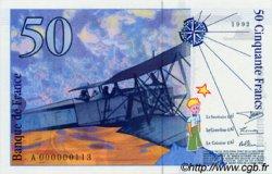 50 Francs SAINT-EXUPERY FRANCE  1992 F.72.01a NEUF