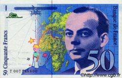 50 Francs SAINT-EXUPERY sans strap FRANCE  1993 F.72.qua.02 pr.NEUF
