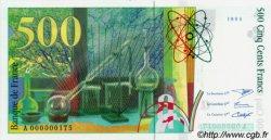 500 Francs PIERRE ET MARIE CURIE FRANCE  1994 F.76.01 NEUF