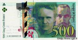 500 Francs PIERRE ET MARIE CURIE symbole en haut FRANCE  1994 F.76bis NEUF
