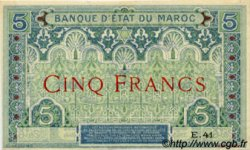 5 Francs 1er type 1921 MAROC  1921 P.08 SPL