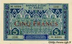 5 Francs MAROC  1924 P.09 pr.SPL