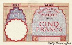 5 Francs MAROC  1941 P.23Ab pr.NEUF