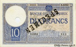 10 Francs MAROC  1942 P.17b pr.NEUF