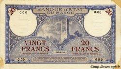 20 Francs MAROC  1920 P.12 SUP