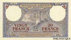 20 Francs MAROC  1931 P.18a SPL+