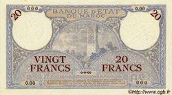 20 Francs MAROC  1941 P.18bs NEUF