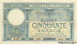 50 Francs 1er type MAROC  1924 P.13 SUP