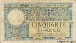 50 Francs 1er type MAROC  1926 P.13 pr.TB