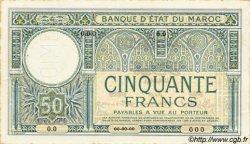 50 Francs MAROC  1920 P.13s SUP