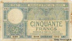 50 Francs 2ème type MAROC  1929 P.19 B+