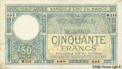 50 Francs 2ème type MAROC  1931 P.19 TTB+