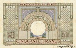 50 Francs type 1935 grand format MAROC  1938 P.21 TTB