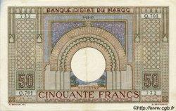 50 Francs type 1935 grand format MAROC  1942 P.21 pr.SUP