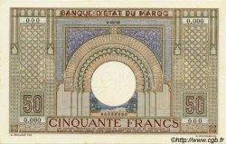 50 Francs MAROC  1935 P.21s pr.NEUF