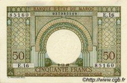 50 Francs type 1949 format réduit MAROC  1949 P.44 pr.NEUF