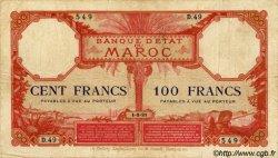 100 Francs type 1920 MAROC  1921 P.14 pr.TB