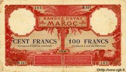 100 Francs type 1920 MAROC  1925 P.14 TB