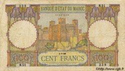 100 Francs type 1928 MAROC  1928 P.20 pr.TB