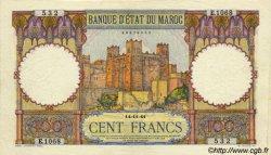 100 Francs MAROC  1941 P.20 SUP