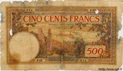 500 Francs MAROC  1929 P.15a AB
