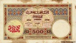"""500 Francs type 1923, avec """"Payables..."""" MAROC  1932 P.15a TB"""