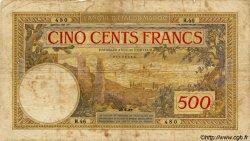 """500 Francs type 1923, avec """"Payables..."""" MAROC  1937 P.15a B+"""