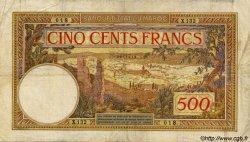 500 Francs MAROC  1946 P.15b TB