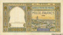 1000 Francs type 1921 MAROC  1939 P.16c TTB+
