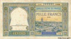 1000 Francs type 1921 MAROC  1949 P.16c TTB+