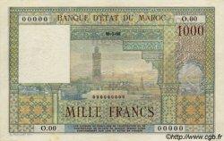 1000 Francs type 1951 MAROC  1951 P.47s SPL