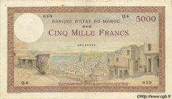 5000 Francs MAROC  1938 P.23a TTB