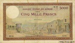 5000 Francs MAROC  1942 P.23b TB+