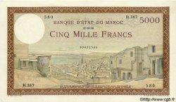 5000 Francs type 1937 MAROC  1950 P.23c SUP