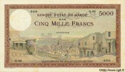 5000 Francs type 1937 MAROC  1937 P.23s pr.NEUF