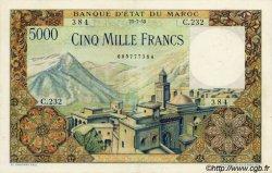 5000 Francs type 1951 MAROC  1953 P.49 SUP