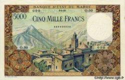 5000 Francs type 1951 MAROC  1951 P.49s pr.NEUF