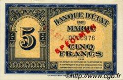 5 Francs type 1943 Américain, 1ère émission MAROC  1943 P.24 pr.NEUF