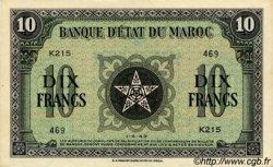 10 Francs type 1943 MAROC  1943 P.25 SUP à SPL