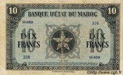 10 Francs type 1943 MAROC  1943 P.25 TB à TTB