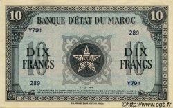 10 Francs type 1943 MAROC  1944 P.25 SPL