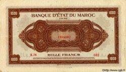 1000 Francs type 1943, 2ème émission MAROC  1943 P.28 TTB+