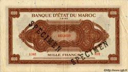 1000 Francs MAROC  1943 P.28s TTB+
