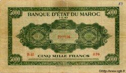 5000 Francs type 1943 MAROC  1943 P.32x TB à TTB