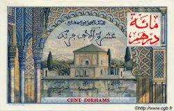 100 Dirhams sur 10000 Francs MAROC  1955 P.52 pr.NEUF