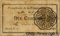 10 Centimes MAROC  1919 P.-- B+