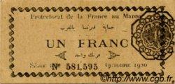 1 Franc MAROC  1920 P.06b SUP+
