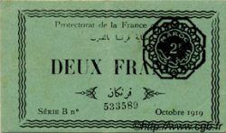 2 Francs MAROC  1919 P.07a SUP+