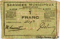 1 Franc MAROC  1919 P.- TB